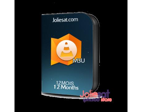 M3U IPTV+VOD 12 Month