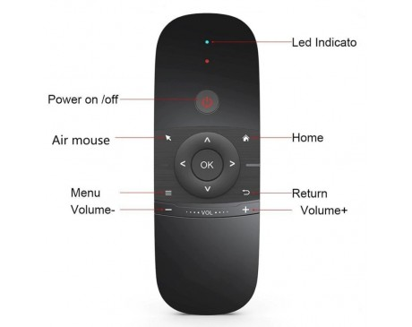 MINI Air Mouse W1 Wireless Keyboard 2.4G Mention Sensing Fly Air Mouse For 9.0 8.1 Android TV Box/PC/TV